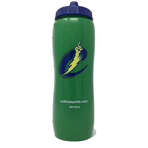 Collins Sports 32oz Squeeze Water Bottle - Contoured - BPA Free
