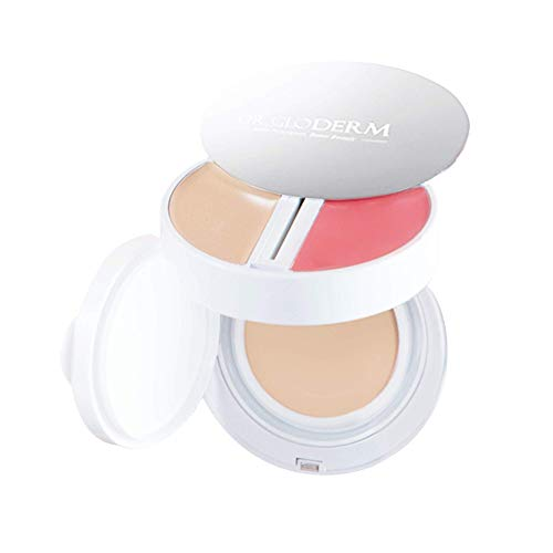 - DR.GLODERM SKIN FIXER Perfect Complexion 21 Light Beige SPF 50+ / PA+++, 3in1 Concealer, Blusher and Foundation with a Soft Velvet Texture and for a Brightening Skincare for All Skin Types
