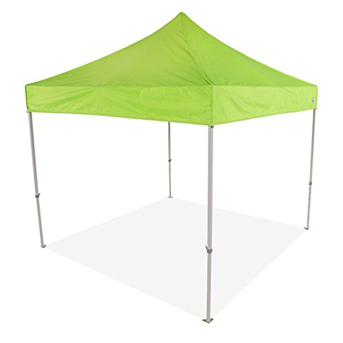 Impact Canopies 10x10 Pop up Canopy Tent - Custom Canopy with Printing (Lime green)