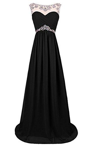 mujer Vestido para Vantexi negro recto YqtwtdT