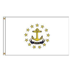 Annin Flagmakers 144748WE 12 in. X 18 in. Nyl-Glo Rhode Island Flag