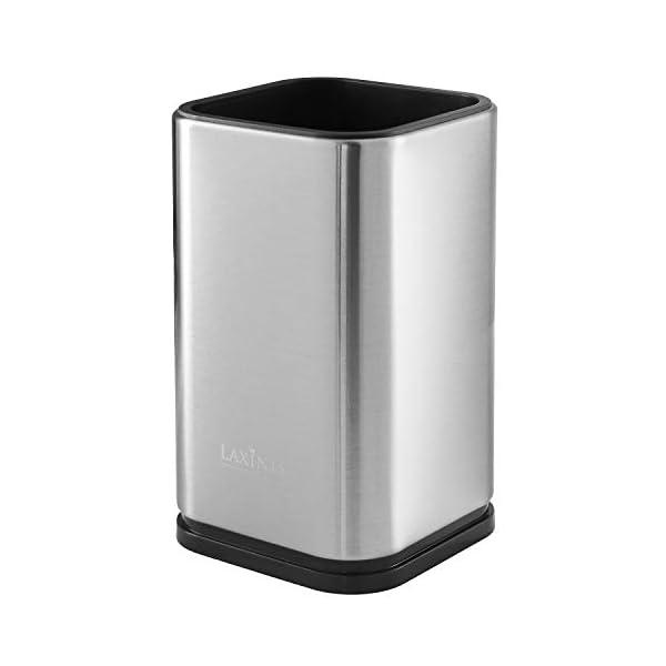 """Stainless Steel Kitchen Utensil Holder, Kitchen Caddy, Utensil Organizer, Modern Rectangular Design, 6.7"""" by 4… 2"""