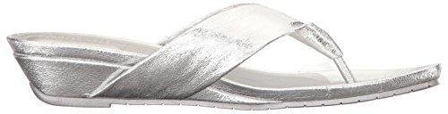 Thong Women's Date REACTION Metallic Sandal Low Great Silver Kenneth Wedge Cole qZSawR1xA