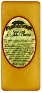 Apple Smoked Cheddar Cheese, 8.0 OZ(Pack of 2)