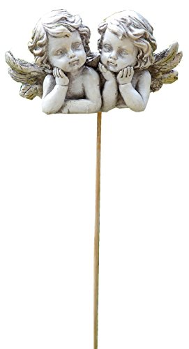 Napco Double Cherub Garden Pick Decorative Stone