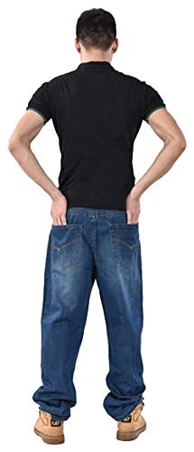 Giovane Vita Colour Da Retro Larghi A Clubwear Saoye Jeans Casual Stile Bassa Ballo Hip Fashion Pantaloni Hop Uomo 6BwqzH