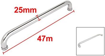 uxcell ガラスシャワードアハンドル ドア引きハンドル バープル 440mmホール間隔 25mm直径