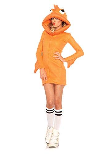Fisherman Costume (Leg Avenue Women's Cozy Goldfish Costume, Orange, Small)