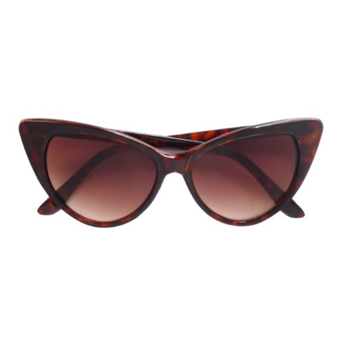 VINTAGE Inspired Women 50s Cat Eye Style Fashion Sunglasses BROWN - Sunglasses Style 50s
