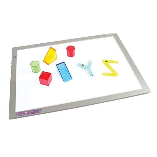 Constructive Playthings Toys Ultra Bright LED Light Panel, Interactive Flat