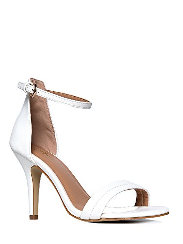 Ankle (White High Heel Boots)