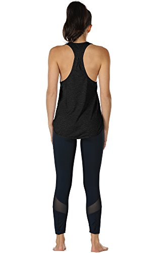Yoga Sport Racerback Da Icyzone Fitness Donna Black Canotta vxIdvqX