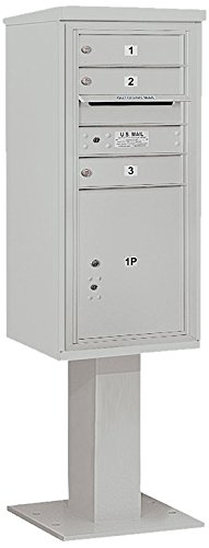 Salsbury Industries 3410s-03gry 4 C Pedestalメールボックス、グレー B00CLVI706