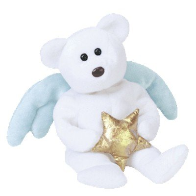 b3c279fec0a ... Stuffed Animals   Teddy Bears   B000E8T0J0. TY Beanie Baby - STAR the Angel  Bear (Holding Gold Star)