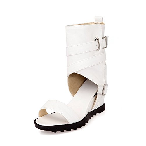 B Heighten Ladies 9 White US M Inside Material Dance Sandals 1TO9 Soft Character 5vxO5w