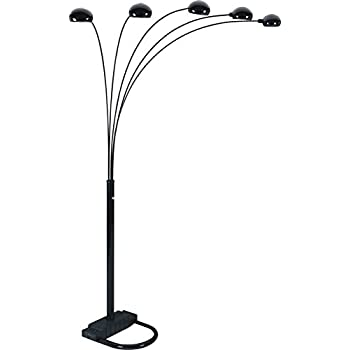 Amazon Com Ore International 6962bk 5 Arm Arch Floor Lamp