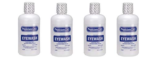 (PhysiciansCare by First Aid Only 24-201 Eye Wash Solution, 32 Ounce Bottle (Pack of 4))