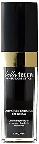 Bella Terra Advanced Radiance Eye Cream Daily Moisturizer for Eyes Reduce Wrinkles and Dark Circles Fast-Acting Skin Renewal Treatment 1 fl. oz 30ml