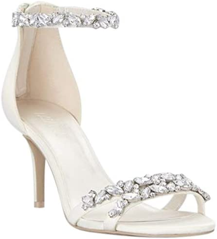 Davids Bridal Jeweled Satin Ankle