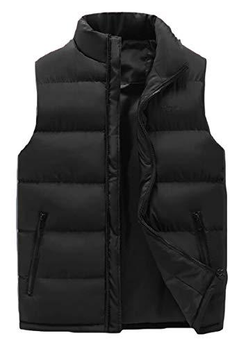 Men's Collar Casual security Vest Stand Black Vest Lightweight Jacket Down RwBqd