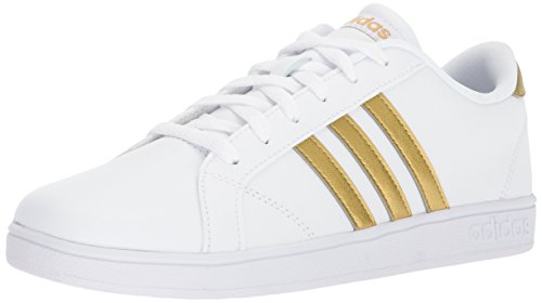 adidas Neo Unisex-Kids Baseline K, White/Matte Gold/Core Black, 13.5 M US Little Kid