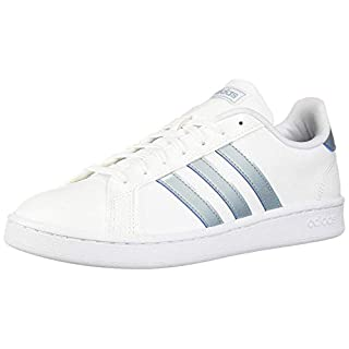 adidas Women's Grand Court Sneaker, White/ash Grey/light granite, 6.5 M US