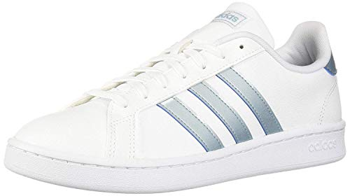 adidas Women's Grand Court Sneaker, White/ash Grey/light granite, 10.5 M US