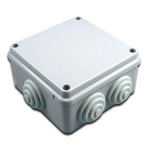 Caja cuadrada estanca 6 conos 100x100x50mm: Amazon.es: Bricolaje y herramientas
