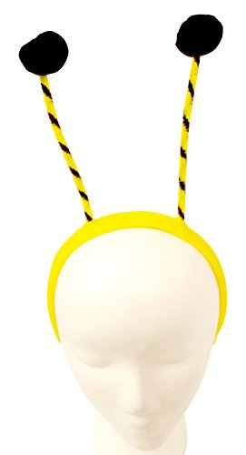 Hanover Accessories Bee Bumblebee Bumble Bee Headband, Yellow/Black - Bumble Bee Antennae