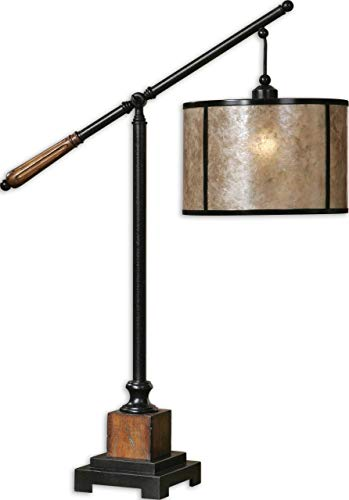 Uttermost 26760-1 Sitka Lamp, Aged Black Metal
