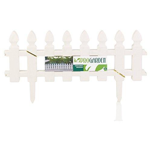 (PRO Garden Lawn Edging Grass Pond Fence Picket Border Plastic Wall)