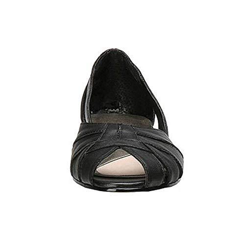 Ballet Black Classics Softy Mark Peep Lemp Toe Womens Flats Zuzu xznz5Yqw8P