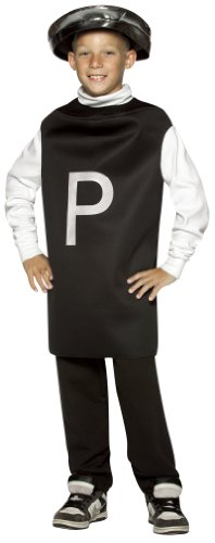 Rasta Imposta Child Black Pepper Shaker Costume - Size 7-10