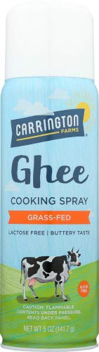 Carrington Farms Ghee Cooking Spray 5 OZ (Pack of 4)