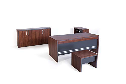Collection Executive Office Furniture (Mare Collection Modern Arya 4 Piece Desk Home Office Suite Furniture Set 71