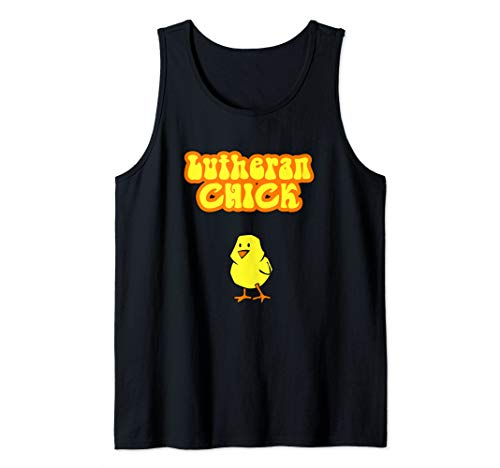 (Lutheran Chick Graphic Tank Top )