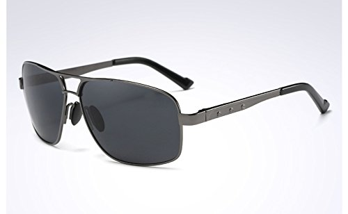 de GRAY gafas sol de polarizadas Gafas BLACK sol Gafas Moda Hombre de GRIS Sunglasses VERDE TL GRAY Mens sol PqUYwWvqR