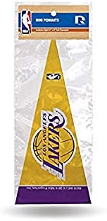 Rico MPS82002 NBA Lakers 8 Pc Mini Pennant Pack Sports Fan Home Decor, Multicolor, One Size