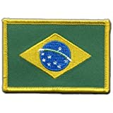 Aufnäher Patch Flagge Brasilien - 8 x 6 cm