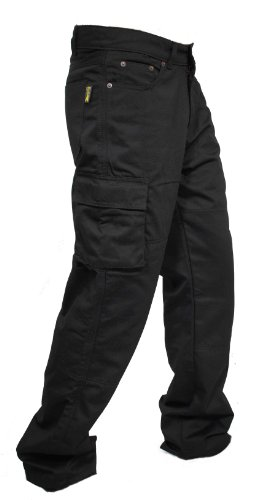 4e85fcff1d69 Newfacelook Men s Motorcycle Cargo Jeans Pants Reinforced with Aramid  Fiber