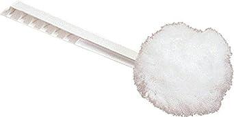 "Carlisle 3623802 Plastic Handle Polypropylene Bowl Mop, Nylon Bristles, 6"" Diameter x 12"" Overall Length, White (Case of 100)"