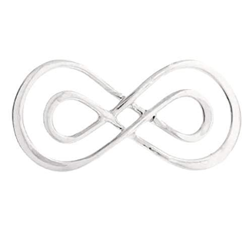 Interwoven Link - Interwoven Infinity Link Sterling Silver 23x10mm - 1pc (4413)/1