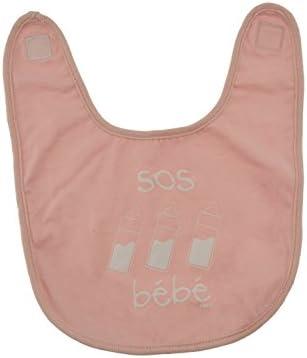 Incidencia Paris 35007 Babero Bebe algodón – SOS bebé – Rosa pálido algodón 27 x 31 x 1 cm: Amazon.es: Hogar