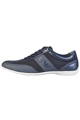 Armani Jeans - Zapatillas de Piel Para Hombre Negro Negro HtvQSXQ