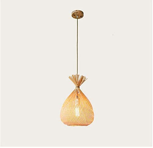 Abat-jour éclairage Lustre Suspension Lustre Creative Simple Lampe De Plafond En Bambou [Classe D'énergie A ++]
