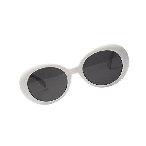 Uv400 Monture Blanc De rayons Classique Sharplace Anti Soleil Uvb Eye Cat Ronde Lunettes Charme SAzzWn6a
