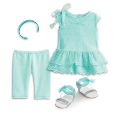 Dress Me Clothing (American Girl - Spring Breeze Dress Set for Dolls for Dolls - Truly Me)