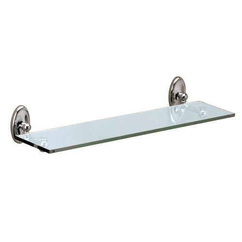 Glass Camden (Gatco 4626 Camden Glass Shelf, Chrome)