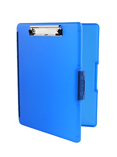 Dexas Slimcase 2 Storage Clipboard with Side Opening, Royal - Plastic Storage Clipboard