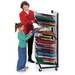 Nasco Jumbo Wall Hugger 50-Shelf Drying Rack - Arts & Crafts Materials - 9708416 by Nasco